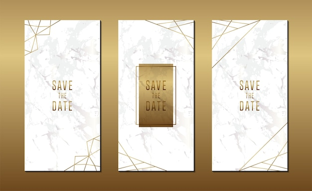 Cartão de convite de casamento minimalista com mármore