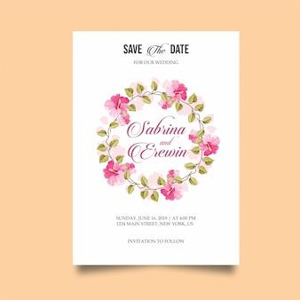 Cartão de convite de casamento moderno