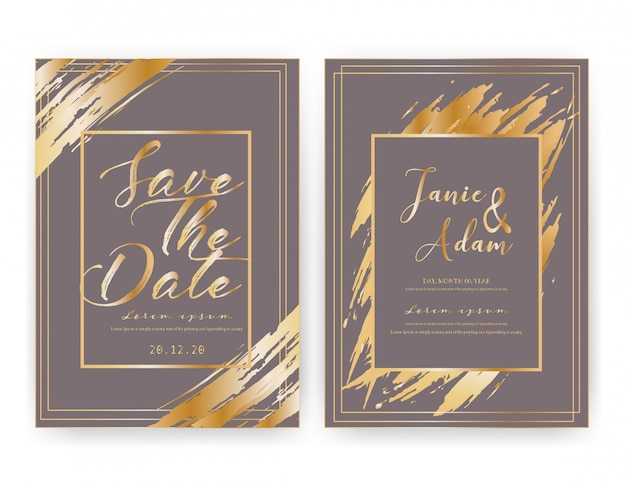 Cartão de convite de casamento