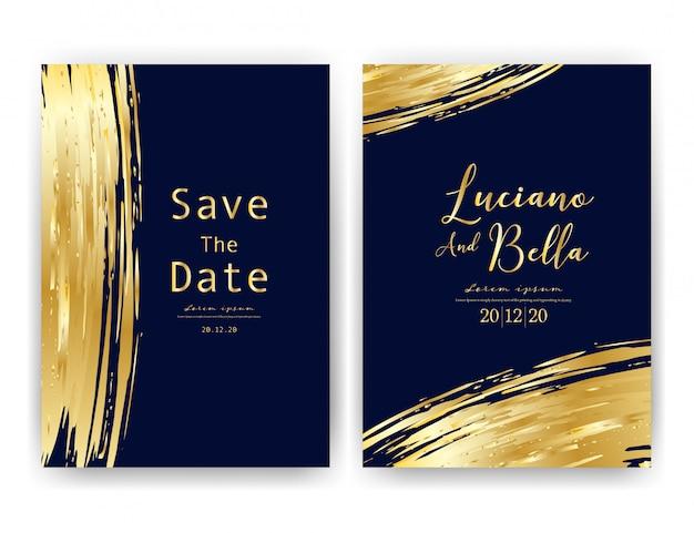 Cartão de convite de casamento.