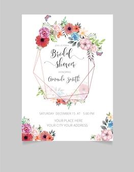 Cartão de convite de chá de panela