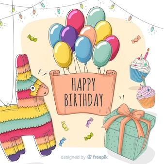 Cartão de convite de criança feliz aniversário