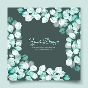 Cartão de convite de eucalipto aquarela elegante