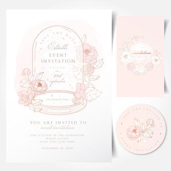 Cartão de convite de evento com cúpula de vidro vintage cúpula cloche bell jar