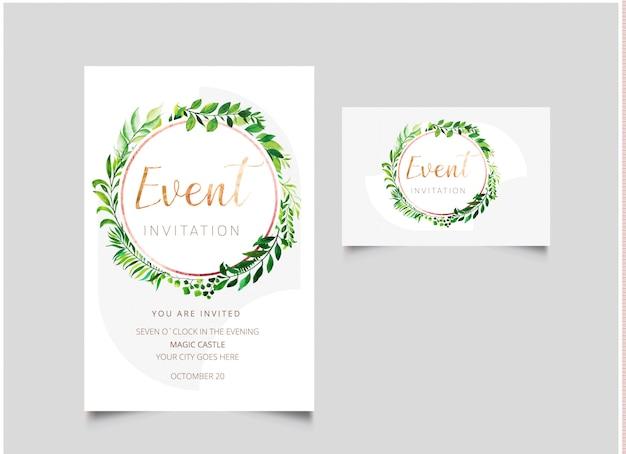 Cartão de convite de evento