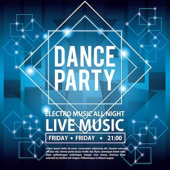 Cartão de convite de festa de dança