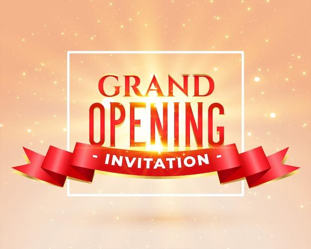 Cartão de convite de festa de inauguração