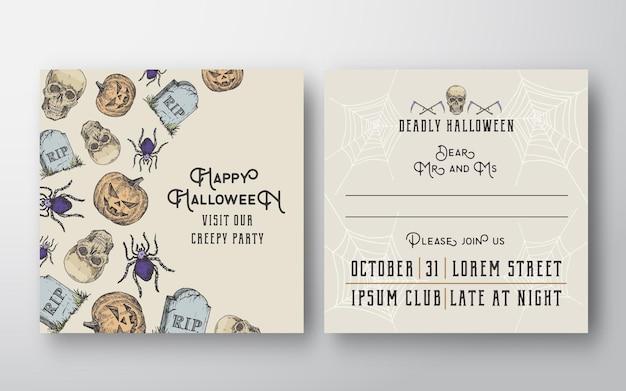 Cartão de convite de halloween