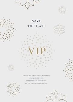 Cartão de convite de luxo