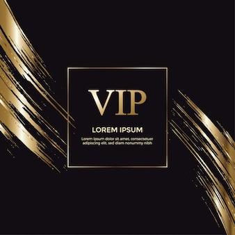 Cartão de convite de ouro elegante vip