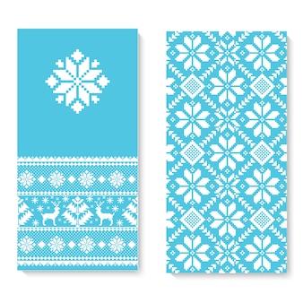 Cartão de convite de vetor com ornamento de padrão popular.