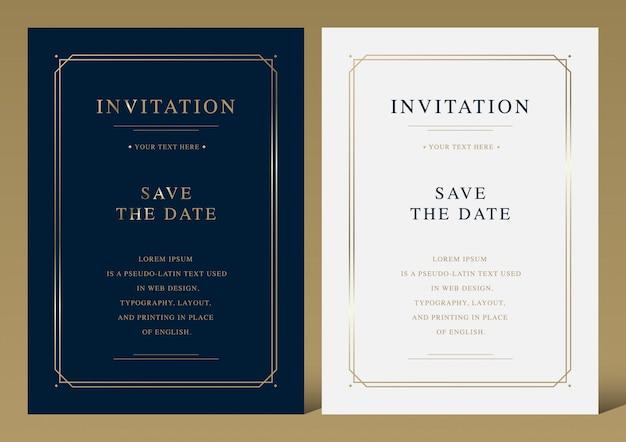 Cartão de convite de vetor de luxo