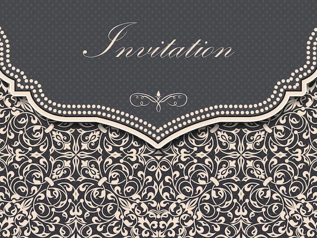 Cartão de convite e anúncio de casamento com fundo vintage