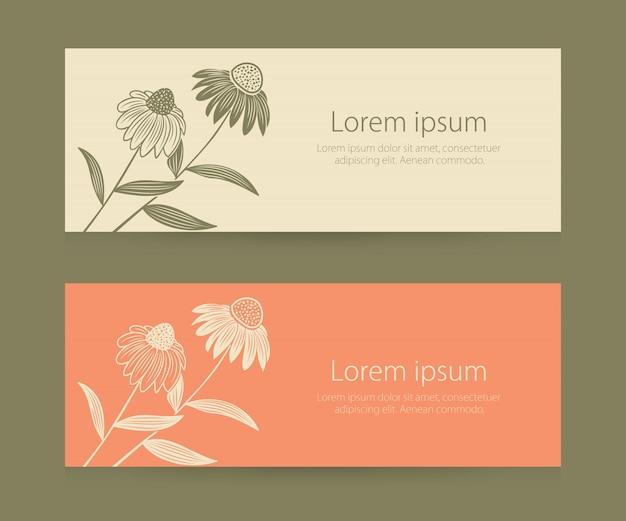 Cartão de convite e anúncio de casamento com ilustrações de fundo floral