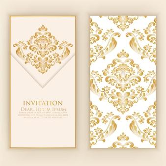 Cartão de convite e anúncio de casamento