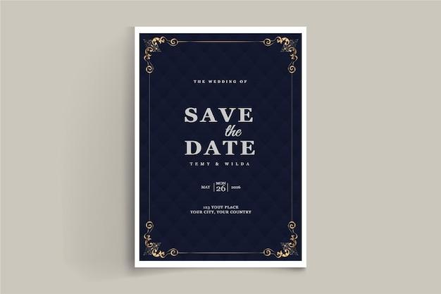 Cartão de convite elegante para salvar a data