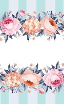 Cartão de convite floral.