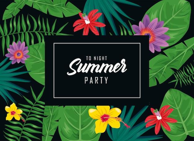 Cartão de convite para festa de verão
