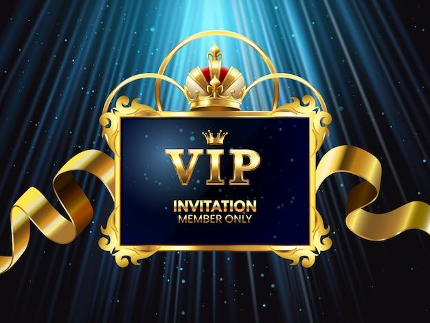 Cartão de convite vip