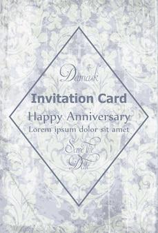 Cartão de convite vitoriano barroco vintage