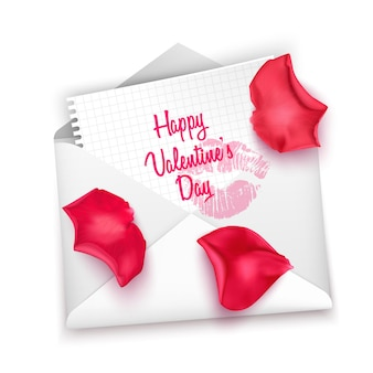 Cartão de correio do amor, carta de dia dos namorados.