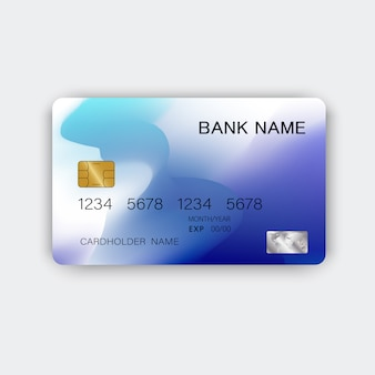 Cartão de crédito azul moderno