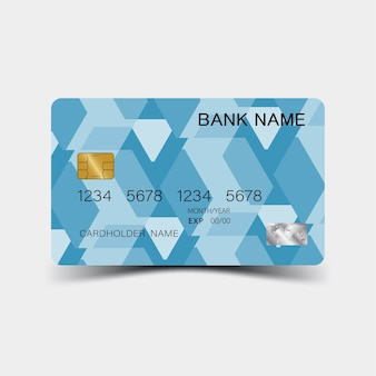 Cartão de crédito azul.