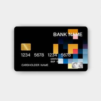 Cartão de crédito colorido