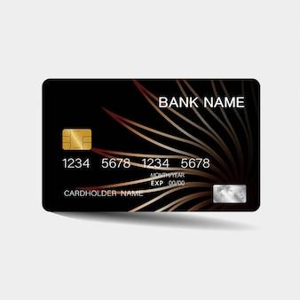 Cartão de crédito com elementos marrons