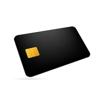 Cartão de crédito comercial em branco branco. cartão de crédito para finanças. ilustração em vetor das ações.