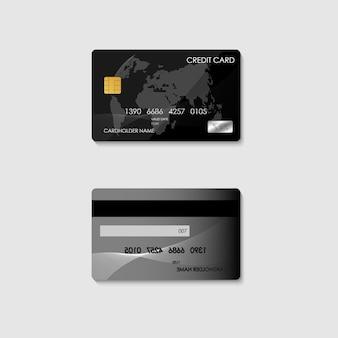 Cartão de crédito de banco eletrônico realista para banco financeiro