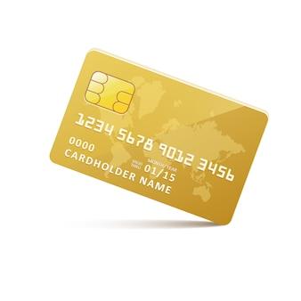 Cartão de crédito de ouro do ícone