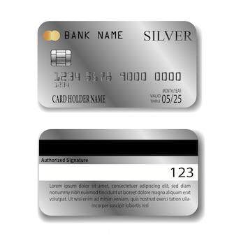 Cartão de crédito de prata