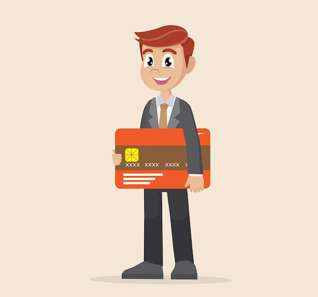 Cartão de crédito do empresário exploração.