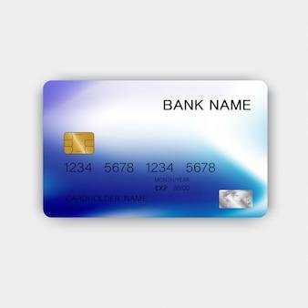 Cartão de crédito moderno azul.
