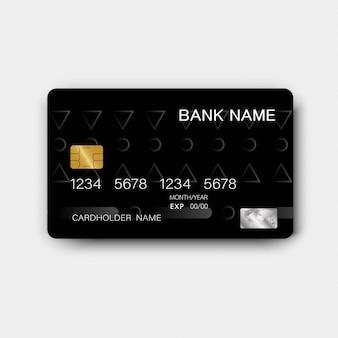 Cartão de crédito preto.