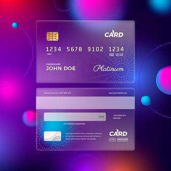 Cartão de crédito realista