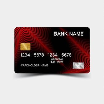 Cartão de crédito vermelho.