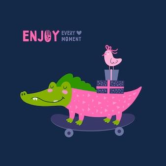 Cartão de crocodilo