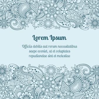 Cartão de cumprimentos de mehndi