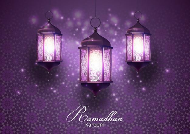 Cartão de cumprimentos de ramadan kareem