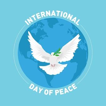 Cartão de cumprimentos do dia internacional da paz
