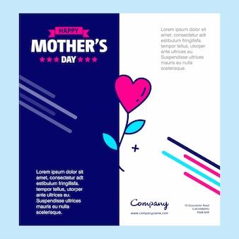 Cartão de cumprimentos feliz do dia das mães