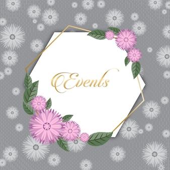 Cartão de cumprimentos floral das estações