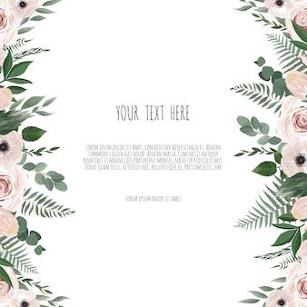 Cartão de design floral vetor