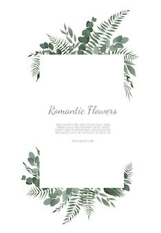 Cartão de design floral vetor.