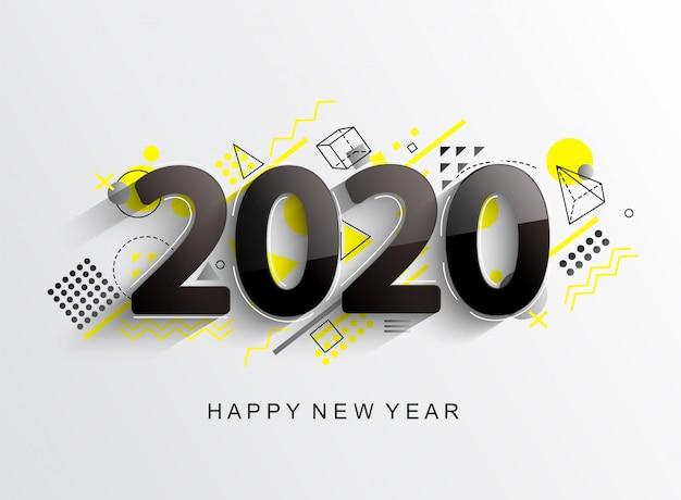 Cartão de design moderno 2020