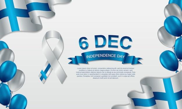 Cartão de dia da independência de finlândia.