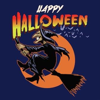 Cartão de dia das bruxas