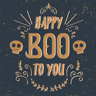 Cartão de dia das bruxas.